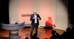 Deutsche Telekom's Joerg Richartz speaking at the Connected TV World Summit 2019