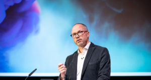 The BBC's Nick North, speaking at Connected TV World Summit 2019