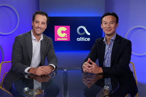 Cheddar Founder and CEO Jon Steinberg and Altice USA CEO Dexter Goei