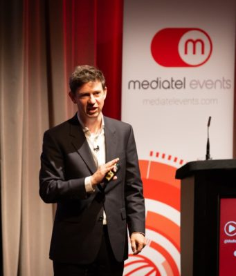 Richard Davidson-Houston speaking at Videoscape Europe 2019