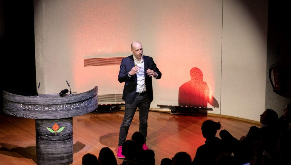 Deutsche Telekom's Joerg Richartz speaking at the Connected TV World Summit 2019