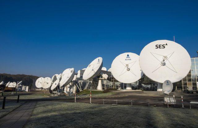 SES satellite dishes